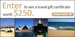 Enter to win a travel gift certificate